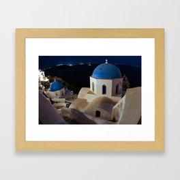 Santorini Rooftops - 2007 Framed Art Print