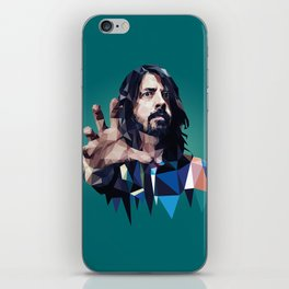 Learn to Fly - Dave Grohl print iPhone Skin