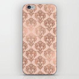 Rose Gold Damask iPhone Skin
