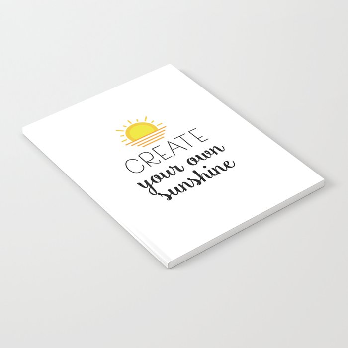 fc6bd7a50 Create your own sunshine Notebook by catmustache | Society6