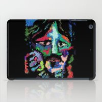 dave grohl iPad Cases featuring Self portrait as Dave Grohl by brett66