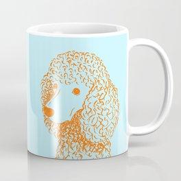 Poodle (Light Blue and Orange) Coffee Mug