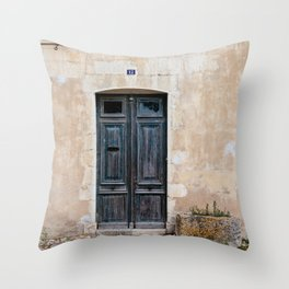 Old fashioned door Throw Pillow