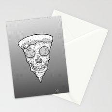 Skull Slice BW Stationery Cards