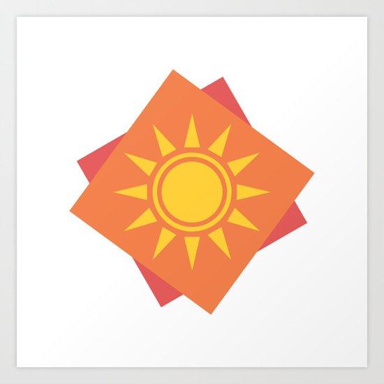 Sun Block Art Print