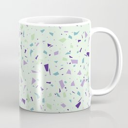 Chocolate Mint Green Terrazzo - Soft Granite Marble Speckle Pattern - Stylish Texture Coffee Mug
