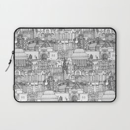 Edinburgh toile black white Laptop Sleeve