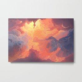 Fiery sky. Digital Art Metal Print