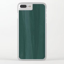 Forest Green Wash Clear iPhone Case