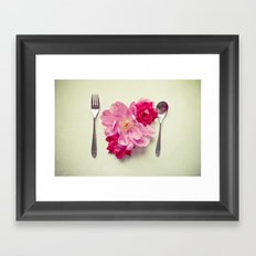 You Are What You Eat - White Framed Art Print