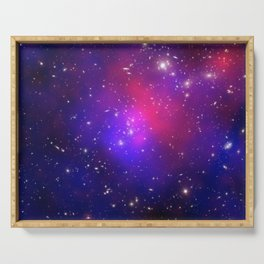 1875. Pandora's Cluster Revealed: A collision of galaxy clusters about 3.5 billion light years away. Serving Tray
