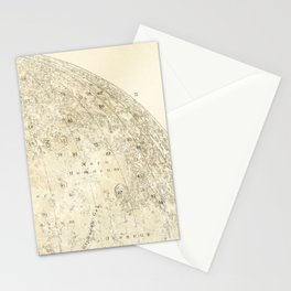 Antique Moon Map Stationery Cards