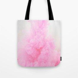 Pink Neon Smoke Clouds Tote Bag