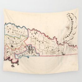 Vintage Map of New Hampshire (1819) Wall Tapestry