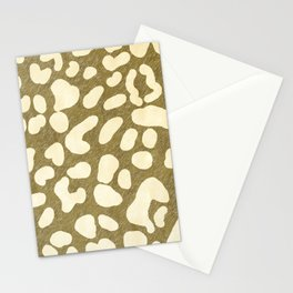 Leopard Beige Pattern Stationery Cards