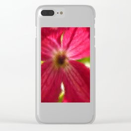 Red Abstract Clear iPhone Case