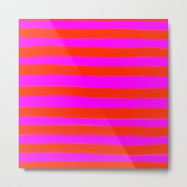 Sweet Stripes in Pink and Red Line Art #decor #society6 #buyart Metal Print