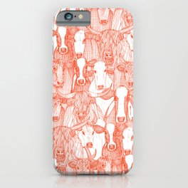 just cattle flame white iPhone Case
