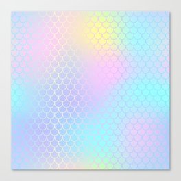 Rainbow Mermaid Abstraction Canvas Print