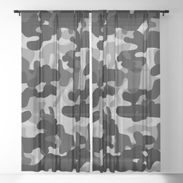 Camouflage (Gray) Sheer Curtain