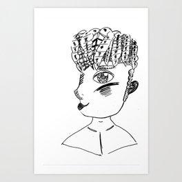 Line art Person Art Print