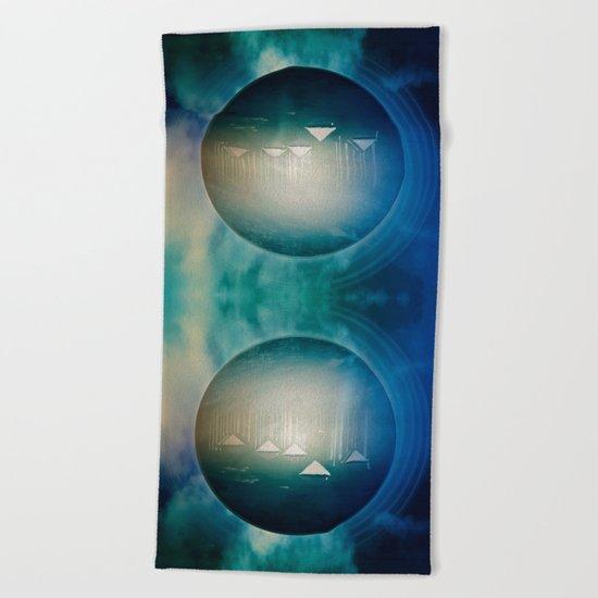 Communicate in Blue / Archipelago 27-01-17 Beach Towel