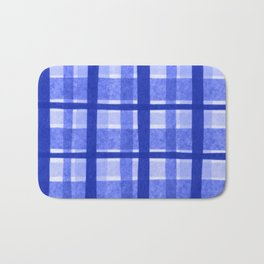Tissue Paper Plaid - Blue Bath Mat