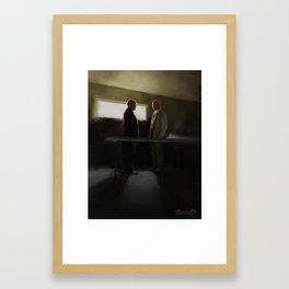 Hank vs Heisenberg Framed Art Print