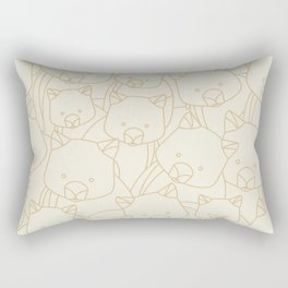 Minimalist Wombat Rectangular Pillow