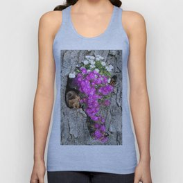 Flowering Vygies and a Squirrel in a tree Unisex Tank Top