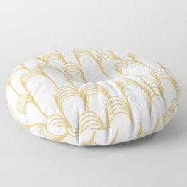 Prelude in Gold Floor Pillow