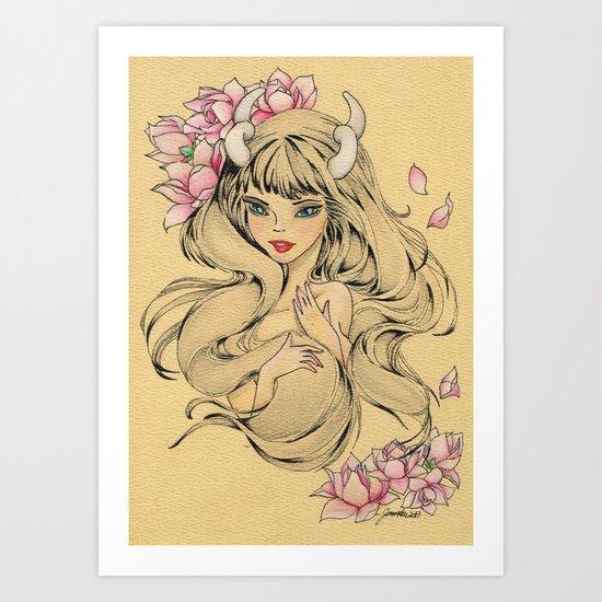 Horn Girl Art Print