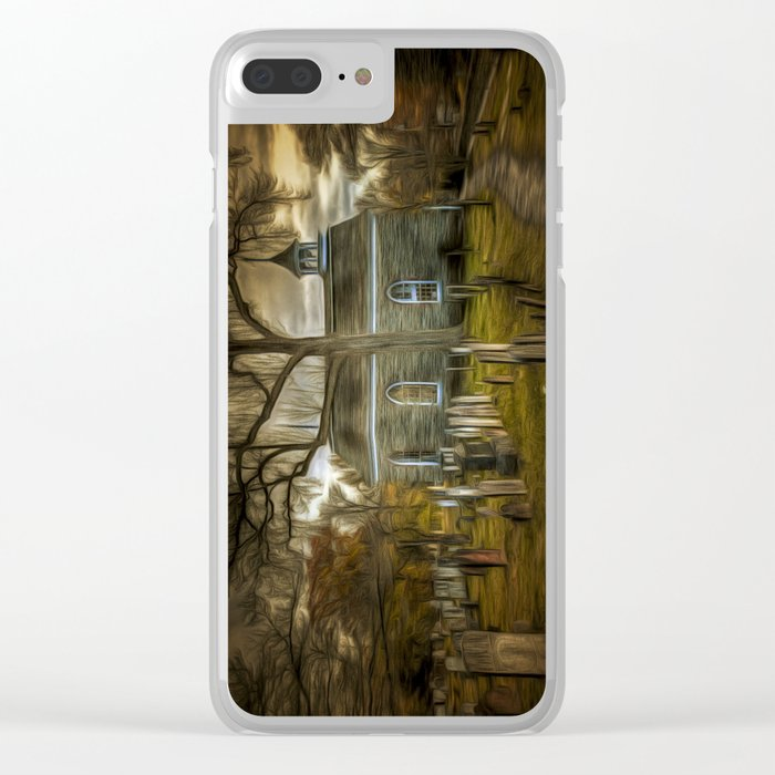 The Haunted Church Clear iPhone Case