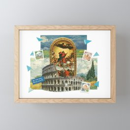 Religious Colosseum Collage Framed Mini Art Print