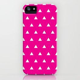 Magenta Triangles iPhone Case