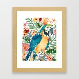 MURDOCH THE BLUE AND GOLD MACAW Framed Art Print