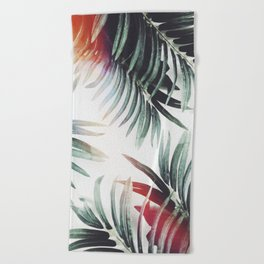 Vintage plants Beach Towel