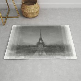 Eiffel Tower Overlay Art Rug