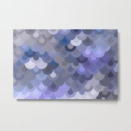 Blue Scales Metal Print