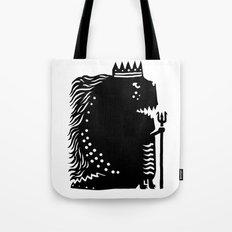 Black king Tote Bag