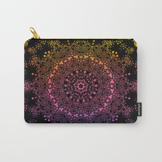 Harlequin Fantasy Mandala Carry-All Pouch