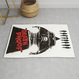 Death Proof Movie Poster Written And Directed By Quentin Tarantino Spanish Version Artwork, Posters, Rug