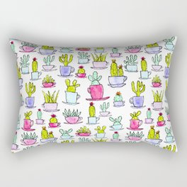 Cactime for Tea Rectangular Pillow