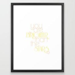 Brighter Framed Art Print