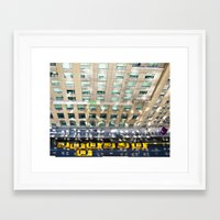 blair waldorf Framed Art Prints featuring Above the Waldorf by Adam Michiels