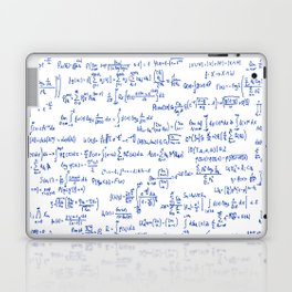 Blue Math Equations Laptop & iPad Skin