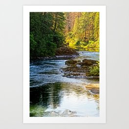 Bend In The River Art Print