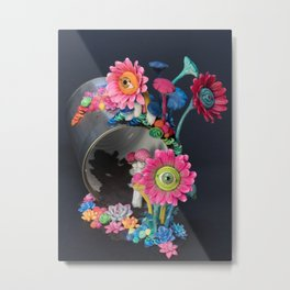 Candi(e)d Watch, Eyed Daisies and Mushrooms Metal Print
