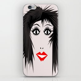 wow | a girl iPhone Skin