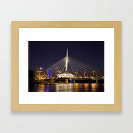 Winnipeg Provencher Bridge Framed Art Print